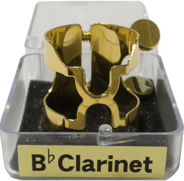 HARRISON ( ハリソン ) B♭ クラリネット リガチャー フォルテ CGP FORTE 金メッキ 日本製 逆締め ゴールド ラバーサイズ マウスピース用 シメガネ C/GP