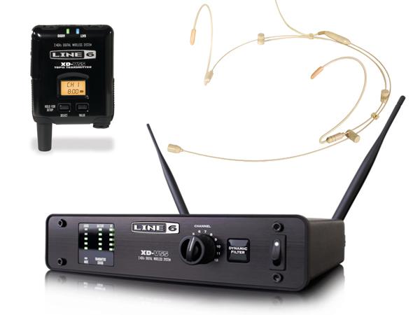 LINE6 ( ラインシックス ) XD-V55HST (タン) ◆ 2.4GHz帯デジタルワイヤレスマイクシステム ヘッドセットタイプ