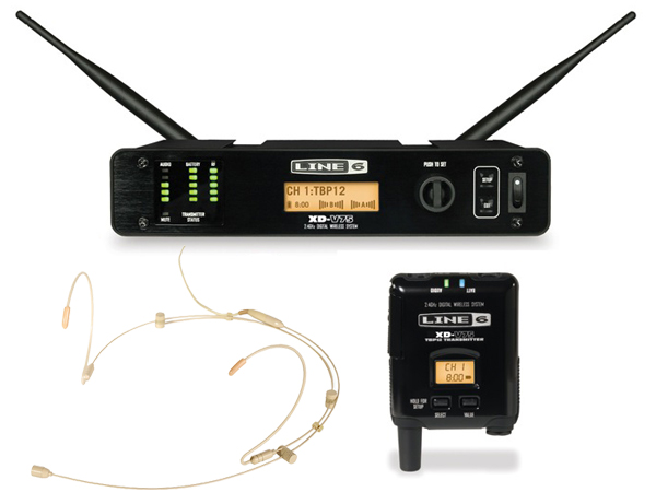 LINE6 ( ラインシックス ) XD-V75HST(タン) ◆ 2.4GHz帯デジタルワイヤレスマイクシステム ヘッドセットマイク