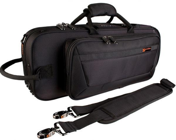PROTEC ( プロテック ) トランペットケース PB-301CT 黒 型抜き セミハードケース ショルダーストラップ付き ブラック 管楽器 シングル トランペット ケース