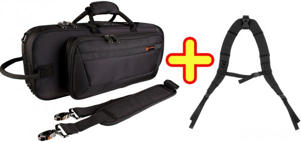 PROTEC ( プロテック ) トランペットケース 黒 セミハードケース リュック バックパック ストラップ付き 管楽器 トランペット ケース 管理品番 PB-301CT + BP-STRAP