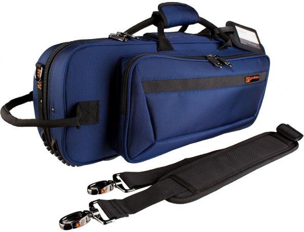 PROTEC ( プロテック ) トランペットケース PB-301CT BLUE 型抜き セミハードケース ショルダーストラップ付き 管楽器 シングル トランペット ケース ブルー