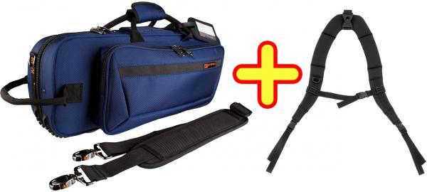 PROTEC ( プロテック ) PB-301CT BLUE + BP-STRAP トランペット用 セミハードケース リュックタイプ ブルー バックパックストラップ セット シングル ケース trumpet case