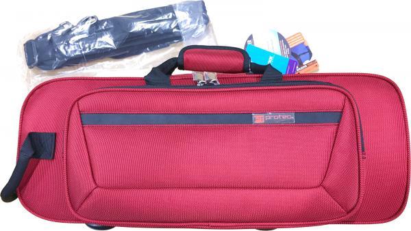 PROTEC ( プロテック ) 送料無料 トランペットケース PB-301CT RED 型抜き セミハードケース ショルダーストラップ付き 管楽器 シングル トランペット ケース レッド