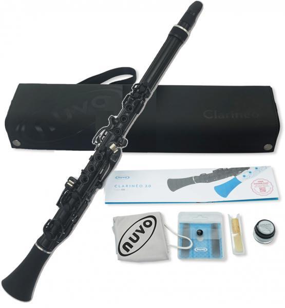 NUVO ( ヌーボ ) N120CLBK クラリネオ ブラック プラスチック クラリネット 管楽器 C管 練習用 リード楽器 CLARINEO NCBKJP BK black  C調 北海道 沖縄 離島不可