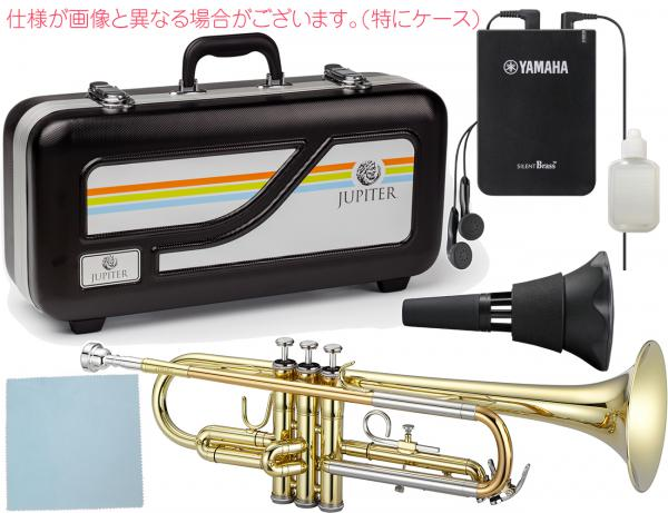 JUPITER  ( ジュピター ) JTR500 トランペット 新品 ゴールド 管楽器 B♭ 本体 JTR-500 gold Trumpet サイレントブラス SB7X セット B