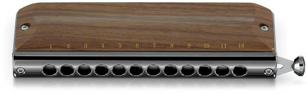 SUZUKI ( スズキ ) G-48W クロマチックハーモニカ グレゴア マレ 木製 ウォルナット 12穴 日本製 ハーモニカ Gregoire Maret Chromatic Harmonica