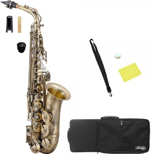 Kaerntner ( ケルントナー ) KAL-68AQ アルトサックス 新品 アンティーク カラー 初心者 管楽器 管体 ヴィンテージ風 アルトサクソフォン KAL68AQ 楽器 本体 沖縄 離島 同梱不可