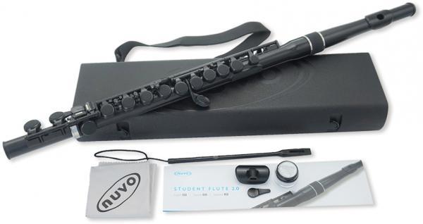 NUVO ( ヌーボ ) 送料無料 スチューデントフルート プラスチック製 フルート カラー ブラック ホワイト 管楽器 C調 ストレート 頭部管 C足部管 FGSFBLK FGSFWHT