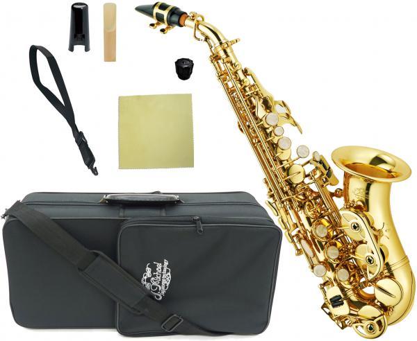 J Michael ( Jマイケル ) SPC-700 カーブドソプラノサックス 新品 アウトレット 管楽器 ソプラノサクソフォン カーブドネック サックス 管体 ゴールド 初心者 楽器