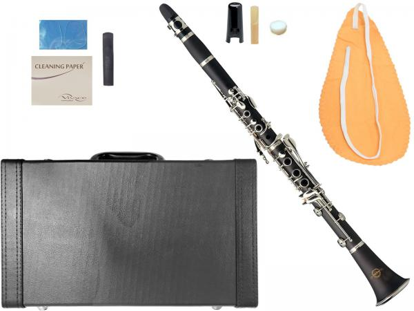 MAXTONE ( マックストーン ) 送料無料 樹脂製 クラリネット 新品 初心者 長持ち 樹脂リード 楽器 B♭ 本体  マウスピース ケース 管楽器 【 CL-40 リード 】