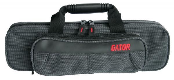GATOR ( ゲイター ) GL-FLUTE-A フルートケース C足部管 H足部管 兼用 型抜き セミハードケース 管楽器 ケース ブラック グレー 系 フルート 楽器 収納