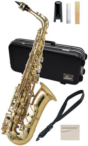 Antigua  ( アンティグア ) 箱ボロ アウトレット アルトサックス スタンダードシリーズ GL 管体 ゴールド A.SAX 初心者 管楽器 サックス 本体 アルトサクソフォン
