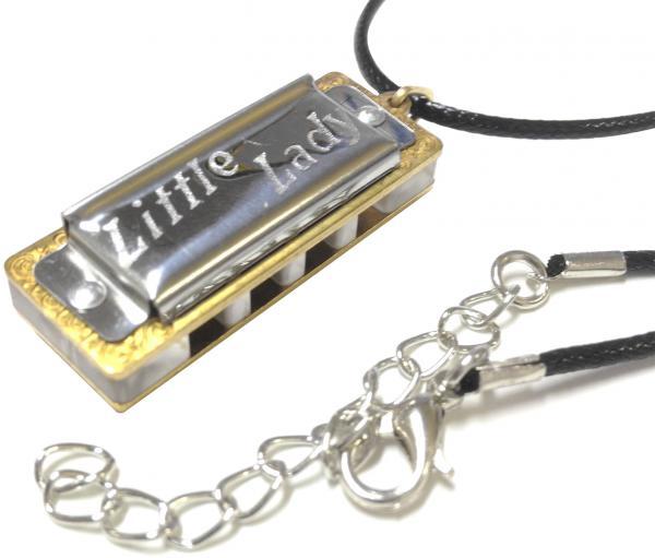 HOHNER ( ホーナー ) 限定 リトルレディー エアー 50周年記念 ブルースハープ型 Little Lady AR ハーモニカ アクセサリー ペンダント トップ 付 ネックレス 楽器