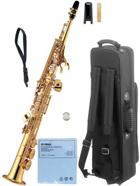 YAMAHA ( ヤマハ ) YSS-475 ソプラノサクソフォン 新品 日本製 管楽器 サックス 本体 ストレート ネック 一体型 ソプラノサックス 管体 ゴールド 楽器