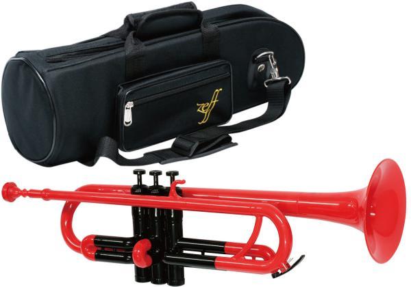 ZEFF ( ゼフ ) ZPT-01 RED BLK トランペット 新品 調整品 アウトレット プラスチック レッド 管楽器 赤色 trumpet 北海道 沖縄 離島不可