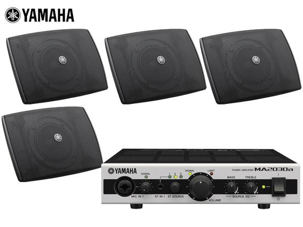 YAMAHA ( ヤマハ ) VXS3F (2ペア) 天井吊り下げ/壁面取付 LOWセット(MA2030)◆ ブラック/ ホワイト