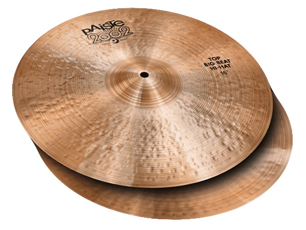 "Paiste ( パイステ ) BIG BEAT HI-HATS 16""  (PAIR) 2002 Black Big Beat  ☆ ビッグビート"