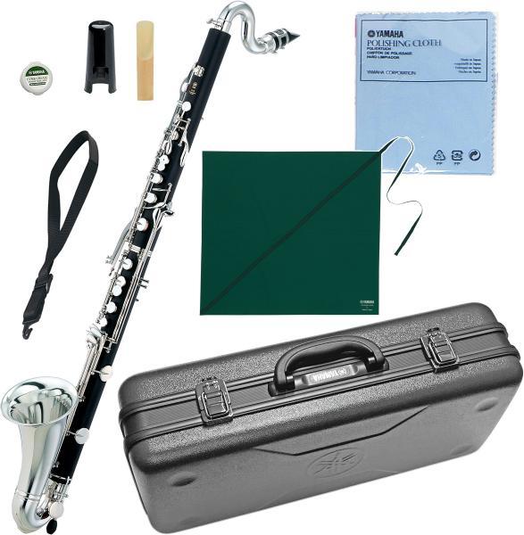 YAMAHA ( ヤマハ ) 送料無料 B♭ バスクラリネット YCL-221II 新品 管体 ABS樹脂 楽器 Low E♭ キイ  初心者 練習用 日本製 管楽器 Bass Clarinet ケース 付き