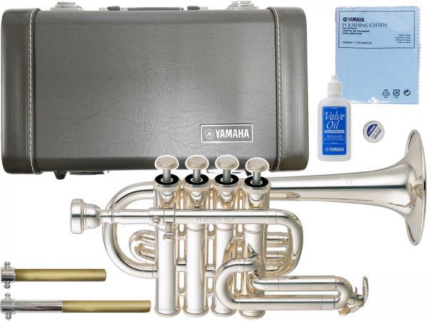 YAMAHA ( ヤマハ ) 送料無料 ピッコロトランペット YTR-6810S 新品 銀メッキ 4ピストン B♭/A管用マウスパイプ 管体 楽器 piccolo trumpet ケース付き