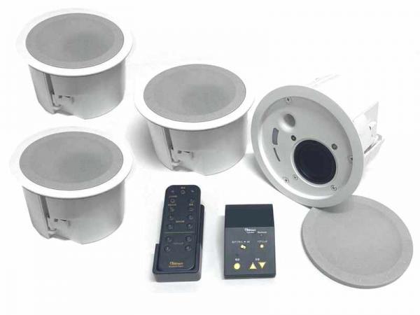 Abaniact ( アバニアクト ) ABP-R02-MS 4SPセット ◆ Bluetooth ブルートゥース 対応 天井埋込型スピーカーセット