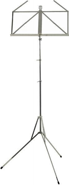Wittner 961A スチール製 ニッケル シルバーカラー 折りたたみ ミュージックスタンド 楽器 管楽器 弾き語り 演奏補助 譜面立て 楽譜立て