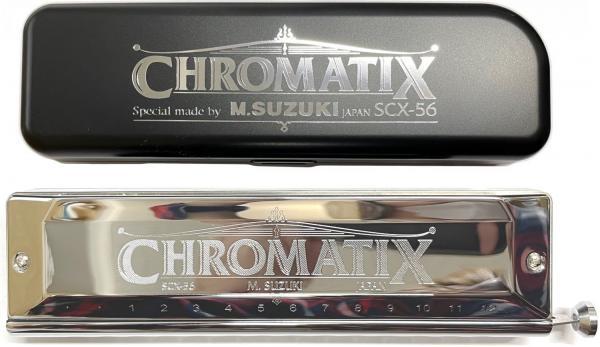 SUZUKI ( スズキ ) 送料無料 スライド式 クロマチックハーモニカ SCX-56 14穴 3オクターブ半 C調 日本製 鈴木 ハーモニカ リード 楽器 Chromatic Harmonica