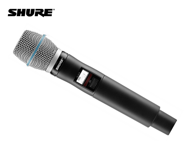 SHURE ( シュア ) QLXD2/B87C-JB ◆ ハンドヘルド型送信機 BETA87Cマイクヘッド B帯モデル