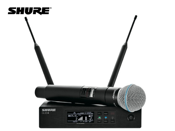 SHURE ( シュア ) QLXD24/B58-JB ◆ BETA58Aヘッド ハンドヘルド型 ワイヤレスマイクシステム  B帯モデル