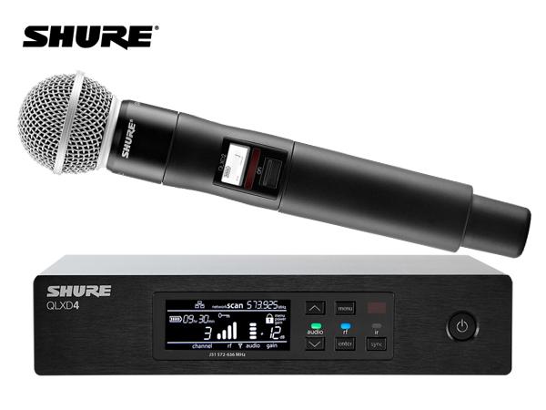 SHURE ( シュア ) QLXD24/SM58-JB ◆ SM58ヘッド ハンドヘルド型 ワイヤレスマイクシステム  B帯モデル