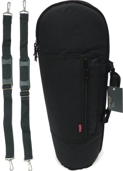 トランペットケース リュックタイプ 軽量 ソフトケース ブラック 管楽器 カバー B♭ Trumpet case bag 楽器 ケース 黒色 TRB-301