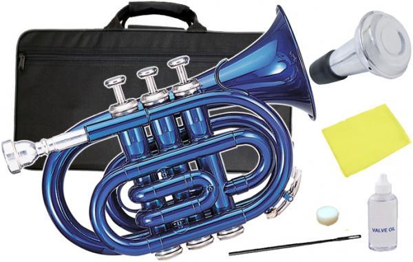 Kaerntner ( ケルントナー ) 送料無料 ポケットトランペット 青色 KTR-33P BLUE 新品 ブルー ミニ トランペット 【 KTR-33P メタリックブルー ミュート 】