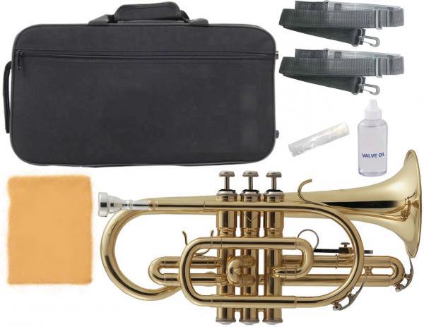 Kaerntner ( ケルントナー ) 送料無料 コルネット ゴールド KCT45 新品 イエローブラス ベル 管楽器 初心者 楽器 B♭ 本体 マウスピース ケース付き