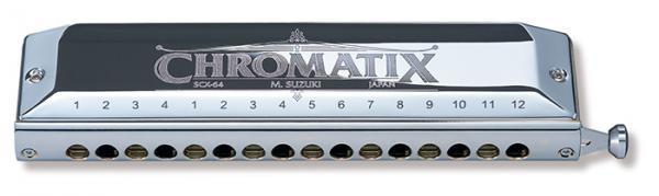 SUZUKI ( スズキ ) スライド式 クロマチックハーモニカ SCX-64 16穴 4オクターブ半 C調 日本製 鈴木 ハーモニカ 樹脂ボディー リード 楽器 Chromatic Harmonica
