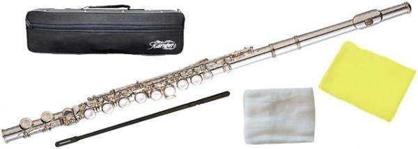 Kaerntner ( ケルントナー ) 送料無料 銀メッキ フルート KFL28 新品 Eメカニズム付き 初心者 管体 カバードキイ 管楽器 C管 頭部管 主管 足部管 Flute Silver
