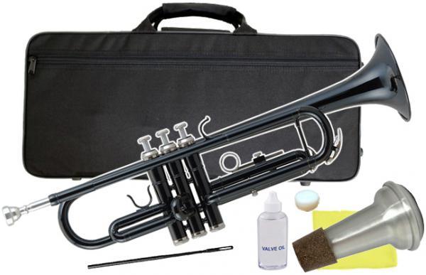 Kaerntner ( ケルントナー ) KTR-30 ブラック トランペット 新品 初心者 管楽器 本体 黒色 カラー B♭ trumpets black 金管楽器 【 KTR30 BK セット E】