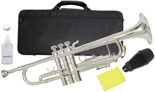 Kaerntner ( ケルントナー ) 送料無料 サイレンサー セット 銀メッキ トランペット KTR-35 Silver Trumpet 新品 B♭ 本体 初心者 管楽器 【 KTR35 ミュート 】