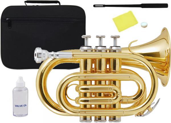 Kaerntner ( ケルントナー ) ポケットトランペット ゴールド KTR-33P GOLD 新品 B♭ 管体 管楽器 本体 楽器 Pockt Trumpet  【 KTR33P GD 】
