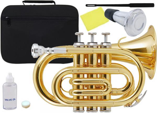 Kaerntner ( ケルントナー ) KTR33P ポケットトランペット ゴールド 新品 管楽器 ミニトランペット B♭ 管体 金色 ミニ トランペット 【 KTR-33P GOLD ミュート 】