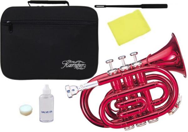Kaerntner ( ケルントナー ) 送料無料 ポケットトランペット レッド KTR-33P MRD 新品 B♭ 管体 管楽器 カラー 本体 楽器 Pockt Trumpet  【 KTR33P RED 】
