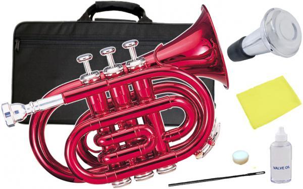Kaerntner ( ケルントナー ) KTR33P ポケットトランペット 赤色 MRD 新品 管楽器 ミニトランペット レッド ミニ トランペット 【 KTR-33P メタリックレッド ミュート 】