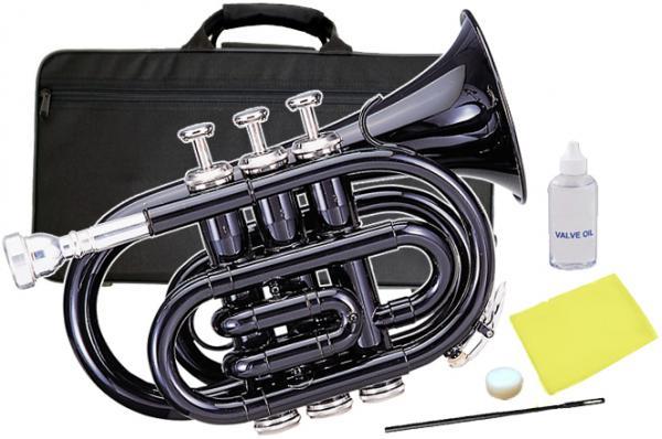 Kaerntner ( ケルントナー ) 送料無料 ポケットトランペット ブラック KTR-33P Black 新品 B♭ 管体 管楽器 本体 楽器 Pockt Trumpet  【 KTR33P BK 】