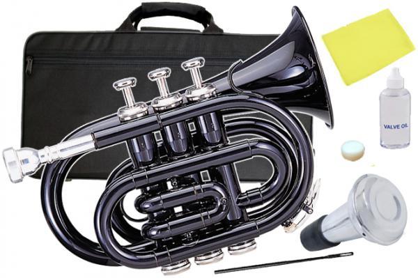 Kaerntner ( ケルントナー ) KTR-33P Black ポケットトランペット 黒色 新品 管体 ブラック ミニ トランペット B♭ KTR33P BK 管楽器 本体 セット D 沖縄 離島不可