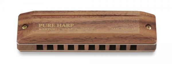 SUZUKI ( スズキ ) PURE HARP MR-550 10穴 10ホールズ ハーモニカ ピュアハープ 木製 ローズウッド ボディ カバー 日本製 ブルースハープ 型 ブルースハーモニカ C調 他