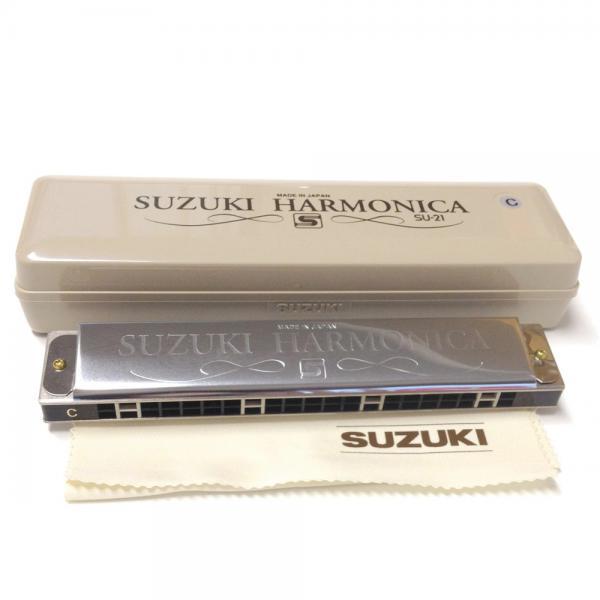 SUZUKI ( スズキ ) スズキスペシャル SU-21SP 複音ハーモニカ 21穴 初心者 トレモロ ハーモニカ ダブルリード メジャー マイナー C調 他 SU21 Special