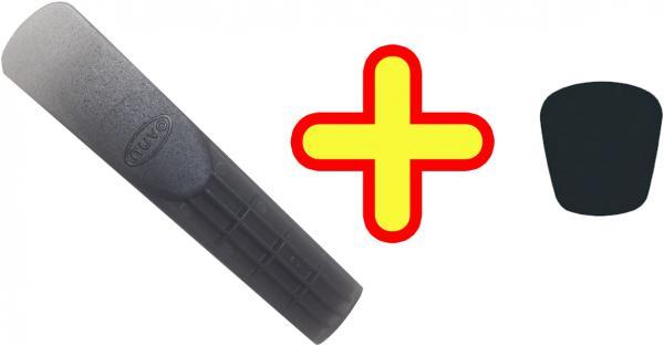 NUVO ( ヌーボ ) リード 1枚 マウスピースパッチ クラリネオ DooD jSAX プラスチック E♭クラリネット サイズ N410D N510J N520 CLARINEO 一番薄い 1番 NUVOリード セット