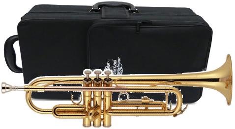 J Michael ( Jマイケル ) TR-380トランペット 新品 ゴールド レッドブラス製 マウスパイプ 管楽器 B♭ 本体 ケース 初心者 楽器 Trumpet gold  【 TR380 アウトレット 】