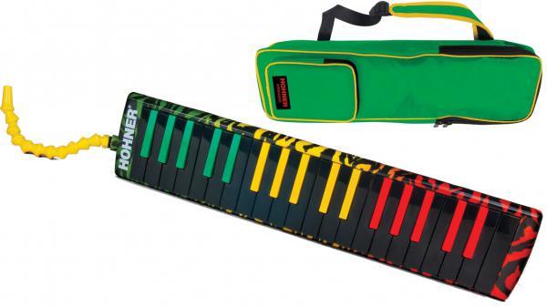 HOHNER ( ホーナー ) Airboard Rasta 37 鍵盤ハーモニカ エアボード ラスタ37 メロディカ 37鍵 楽器 本体 吹き口 ホース ケース melodica 北海道 沖縄 離島不可