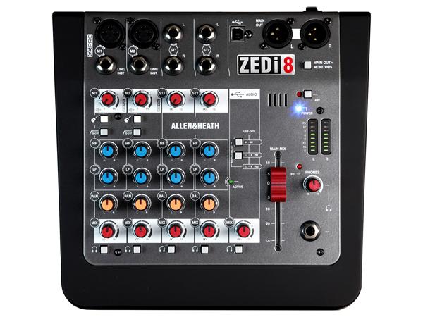 ALLEN&HEATH ( アレンアンドヒース ) ZEDi-8 ◆ USBインターフェイス機能搭載 8chアナログミキサー (マイク入力2ch)  ◆ ZEDi8