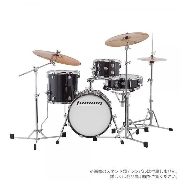 LUDWIG ( ラディック ) LC179X 016 BLACK GOLD SPARKLE【ブレイクビーツ 小口径 ドラムセット】
